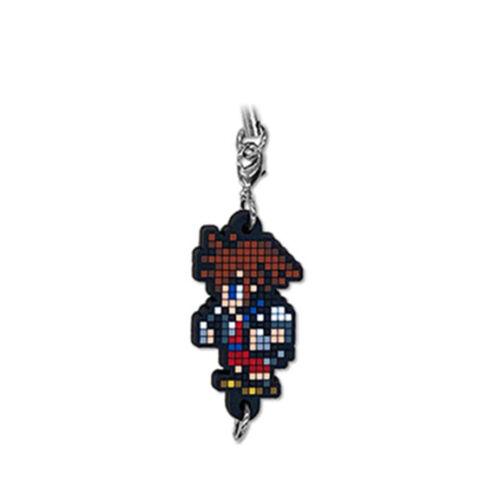 Kingdom Hearts Dot Pixel Art Trading Rubber Strap Sora Keychain