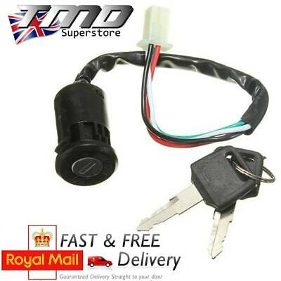 Motorcycle Ignition Barrel Key Switch 4 wire Universal Quad On/Off Pit Motorbike