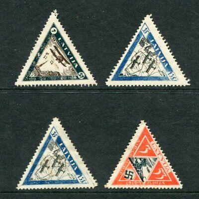 LATVIA 1933 AIRMAIL REPRINT Mint Set