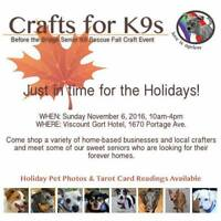 Before the Bridge Senior K9 Rescue Fall Craft Sale