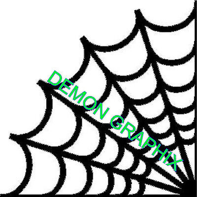 Spider web corner vinyl decal/sticker outline  cobweb jdm - Halloween Mirror Decals
