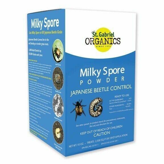 St Gabriel Organics 80010-9 Milky Spore Powder Grub Control Covers 2500 Sq Ft