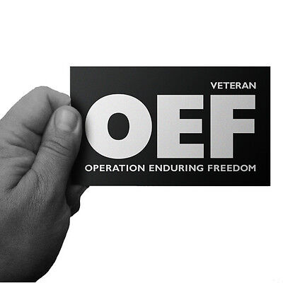 OPERATION ENDURING FREEDOM OEF AFGHANISTAN VETERAN BUMPER STICKER by Inkfidel