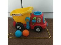 Vtech dumper truck with balls sounds & lights (smoke & pet free home)