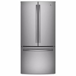 Réfrigérateur 33, Stainless, Portes françaises, GE