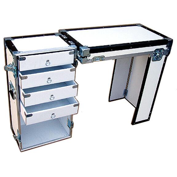 "Convertible ATA 3/8"" Case - Convention & Trade Show Furniture - 4 DRAWER DESK"