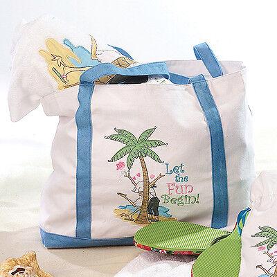 Destination wedding honeymoon gift beach bag fun Let The Fun Begin (Fun Begin Beach Bag)