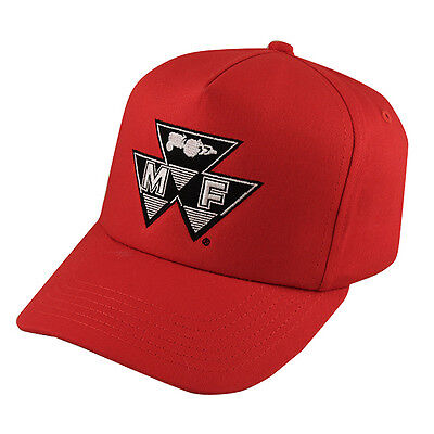 MASSEY FERGUSON *RED COLORED* VINTAGE Trademark Logo HAT CAP *BRAND NEW!* MF03