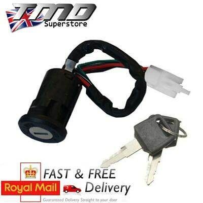 MOTORCYCLE KEY BARREL IGNITION SWITCH 4 WIRE ONOFF UNIVERSAL QUAD MOT