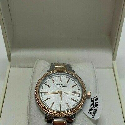 Anne Klein New York Two-Tone Ladies Watch 12/2315SVRT Store Display NIB READ