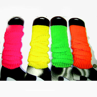 Neon Leg Warmers (Choose Your Color) Pink Orange Yellow Green Club 80's Lauper