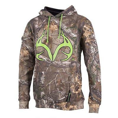 Small, Green Zipper Hoodie Realtree APG Camo with Green Logo