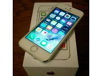 Apple iPhone 5 s white and silver factory unlocked in box
