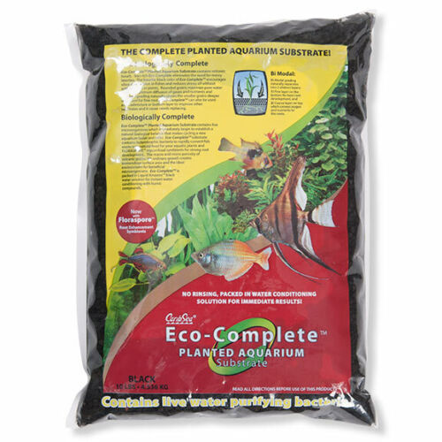 CaribSea Eco Complete Black Planted Aquarium Substrate Perfect Tanks With Plants