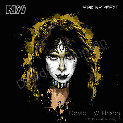 KISS Vinnie Vincent Solo Album Art Giclee' by David E. -