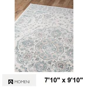 """NEW MOMENI 7'10"""" x 9'10"""" AREA RUG - 132422121 - BROKKLYN HEIGHTS IVORY FLORAL CARPET CARPETS RUGS FLOORING DECOR ACCE..."""