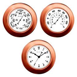 BULOVA  NEW, 3 PIECE 8  COPPER CLOCK SET C4829