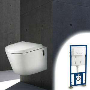 HIGH QUALITY CONCRETE BATHROOM SINK AND SUSPENDED WALL TOILET