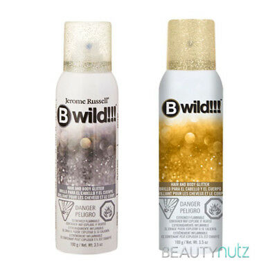 Jerome Russell B Wild Hair and Body Glitter Spray 3.5 oz - Gold ](Hair Glitter Spray)