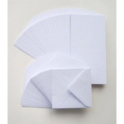Crafts UK 50 Cards and Envelopes White 6 x 6-Inch