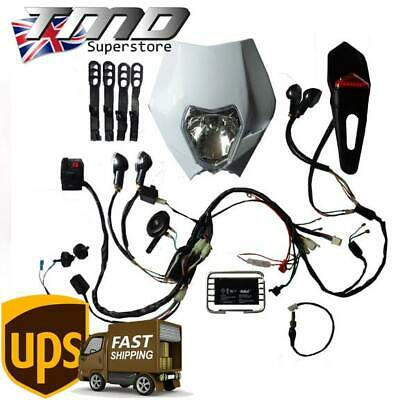 Enduro Motorcycle Complete Light Kit With Indicators Loom - Kick Start ONLY