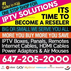 IPTV RESELLER PANEL-TV BOX-MAG-BUZZTV-FORMULER DREAMLINK-GLOBAL-AVOV-BOOMERANG MATE-WHOLE SALE
