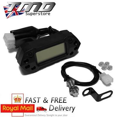 ENDURO MOTORCYCLE COMPLETE DIGITAL SPEEDOMETER KIT   MPH  KMH WITH SE