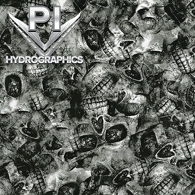 Hydrographic Film Hydro Dipping Hydro Dip Clear Depleted Cranium Skulls Ll869