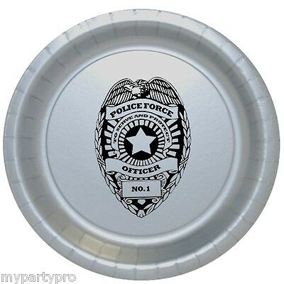 Police Badge Dinner Plate Birthday Party Supplies law enforcement - Law Enforcement Party Supplies