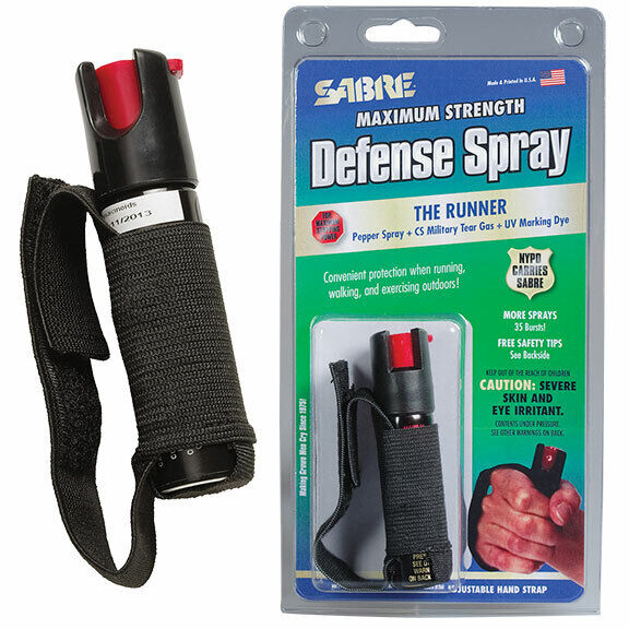Sabre Red Police Strength Pepper Spray Runner Model With Hand Strap [CLEARANCE]