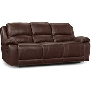Brand New ~ Faux Leather Dual-Reclining Sofa
