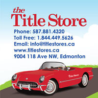 Title Loans! QUICK APPROVAL on Vehicles! Best Rates in Edmonton!