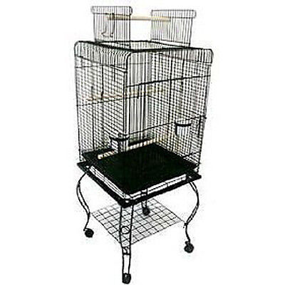Large 20-Inches Open Play Top Parrot Bird Cage With Removable Rolling Stand 504