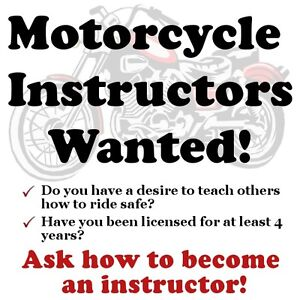 Motorcycle Instructors Wanted