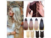 Secret wire hair extensions