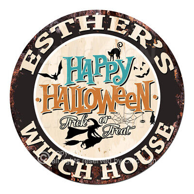 ITCH HOUSE Tin Sign Halloween Decor Funny Gift (Esther Halloween)