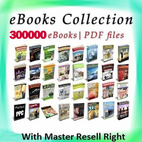 300000+ eBooks Package Collection | Pdf Format | With Master Resell Rights