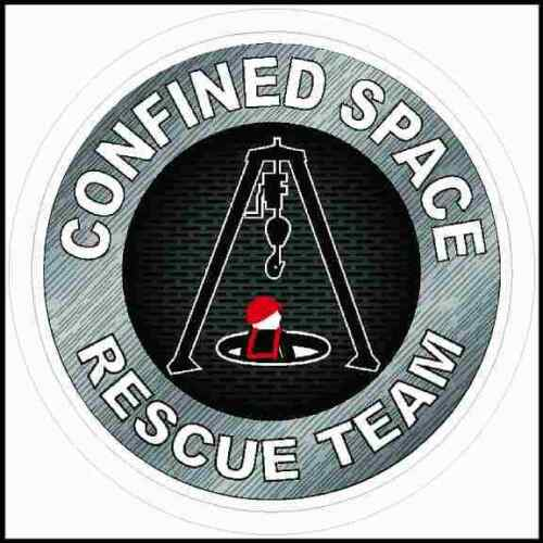 Confined Space Rescue Team Hard Hat Sticker
