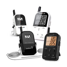 Ivation Long Range Wireless Dual 2 Probe BBQ Smoker Meat Thermometer Set