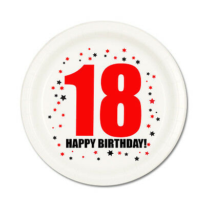 18th BIRTHDAY DESSERT PLATES 8/pk Small Lunch Plate Birthday Party Supplies T106
