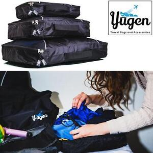 NEW YUGEN 3PC TRAVEL PACKING CUBES LUGGAGE - NYLON 99065131