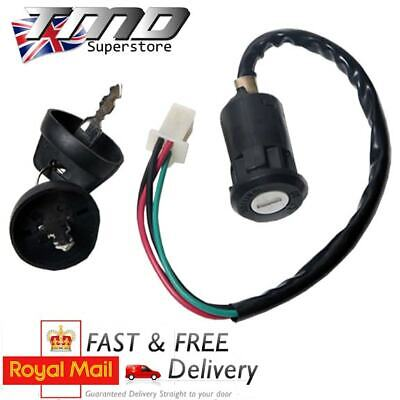 MOTORCYCLE IGNITION BARREL KEY SWITCH 4 WIRE UNIVERSAL QUAD ONOFF CAR