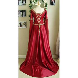Stunning Ladies Medieval Renaissance Gown Dress Costume Maid Marion High Quailty