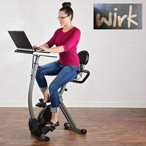 NEW WIRK CYCLING WORKSTATION BIKE STAND UP DESK - EXERCISE BIKE FITNESS EQUIPMENT CARDIO WORKOUT GYM GYMS BIKES