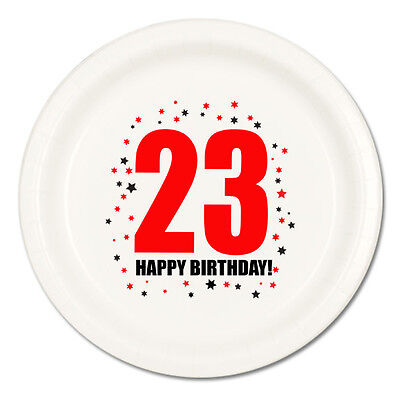 Happy 23rd Birthday (Age 23) Party Supplies DESSERT CAKE PLATES](Happy 23rd Birthday)