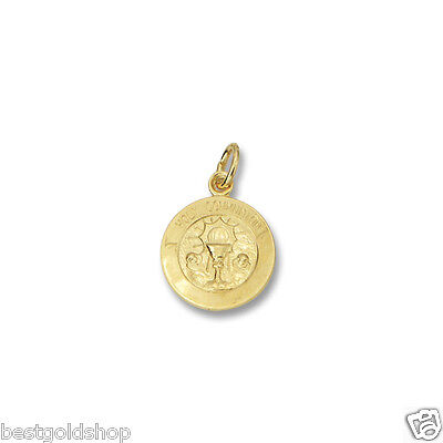 3D Small Tiny Holy Communion Medal Charm Pendant Solid Real 14K Yellow Gold 14k Gold Communion Charm