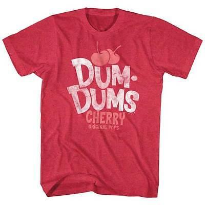 Dum Dums Candy Suckers Cherry Original Pops Adult T Shirt