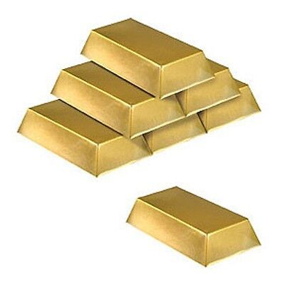 Roaring 20's * 1920's Party GANGSTER PLASTIC GOLD BAR DECORATIONS](Roaring Twenties Party Decorations)