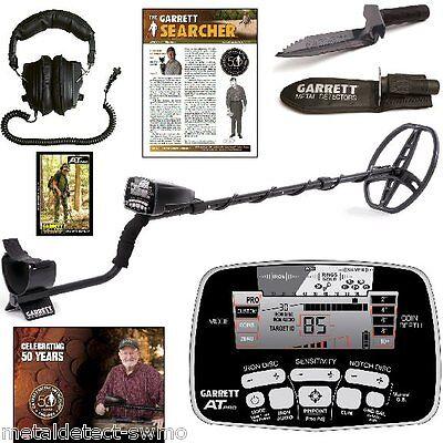 Garrett New AT Pro Metal Detector with Free Headphones + Edge Digger with Sheath