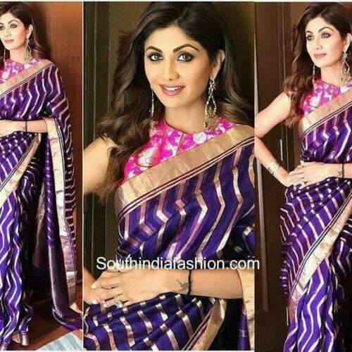 Saree Indian Sari Designer Bollywood Wear Silk Blouse Wedding Party PakistanISA